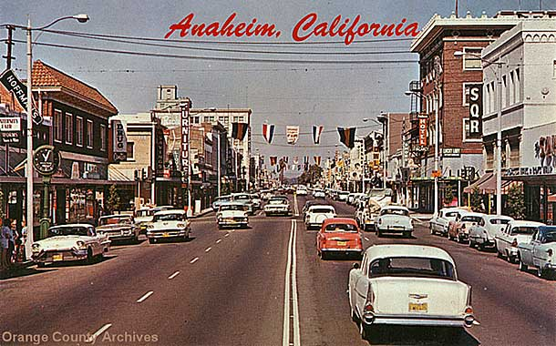 1950s Center Street in Anaheim, CA