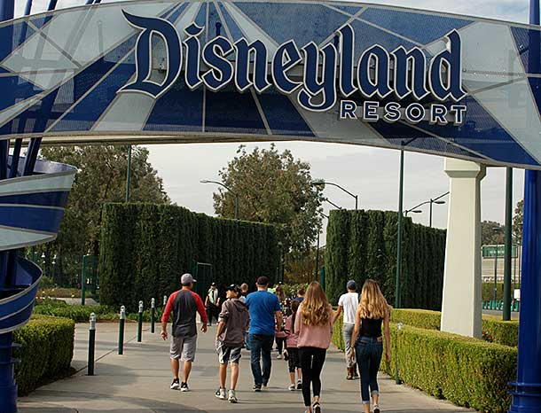 Disneyland entrance of Anaheim, California
