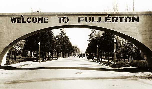 Fullerton Bridge Historical Sepia