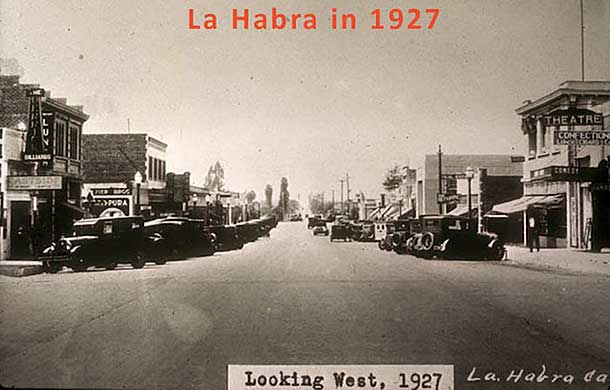 La Habra, CA in 1927